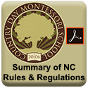 Click to Click to view, download or print the Summary of NC Rules & Regs